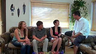 Nervous brother Films NOT His sister And Her Girlfriend