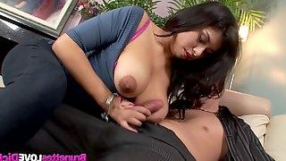Curvy Michelle Rica Gets Cum on Her Big Natural Boobs