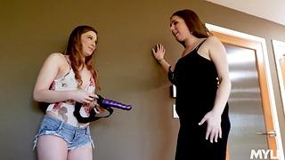 Bobbi Dylan finds stepmom's strapon and fucks enticing milf