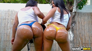 Latina whores share big piece in excellent XXX