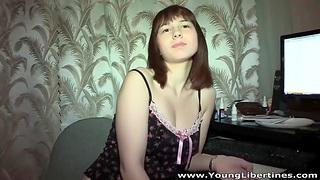 Amateur Russian fixture and girlfriend perform homemade sex tape