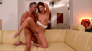 Horny babe Katy Rose invited say no to room-mate to drill say no to soiled pussy