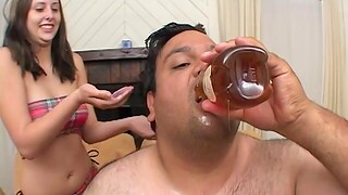 Opprobrious man with a pithy locate fucks blistering brunette Ashley Jordan