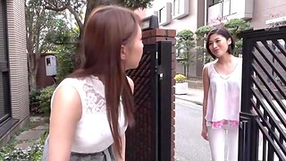 Cute Japanese chick Sunohara Miki licks her of either sex gay friend's puss